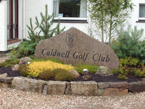 Sign, Caldwell Golf Club