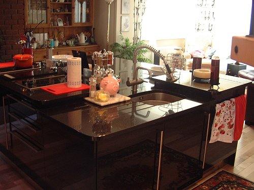Worktop, Black & Red Island