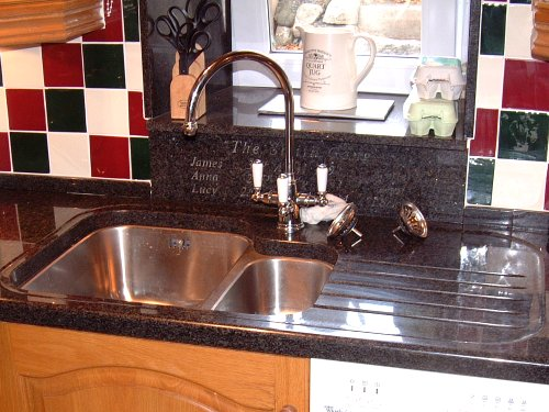 Kitchen Remodel Designs: Granite Splashback